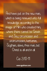 Taking Christ as our Life and Person so that Christ is All and in All in the New Man