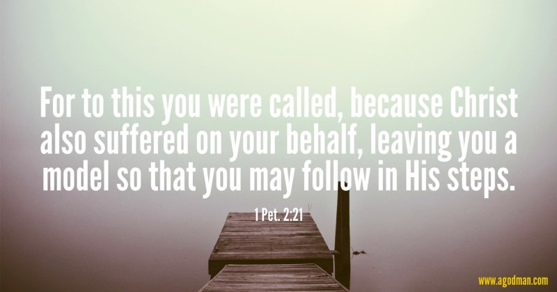 1 Pet. 2:21 For to this you were called, because Christ also suffered on your behalf, leaving you a model so that you may follow in His steps.