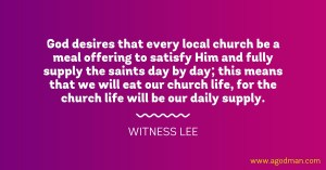 The Church Life is a Corporate Meal Offering for God's Satisfaction and Man's Supply