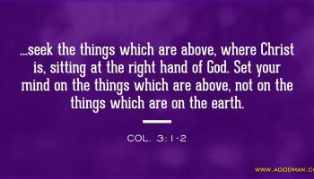 Seeking the Things which are Above, where Christ is Sitting at the