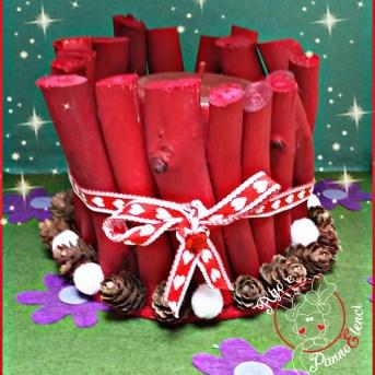 portacandele natalizio