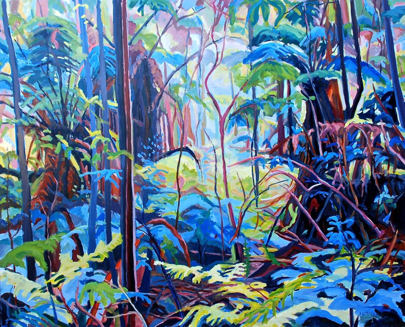 """Colourful Sanctuary,"" Oil on Linen, 48"" x 60"""