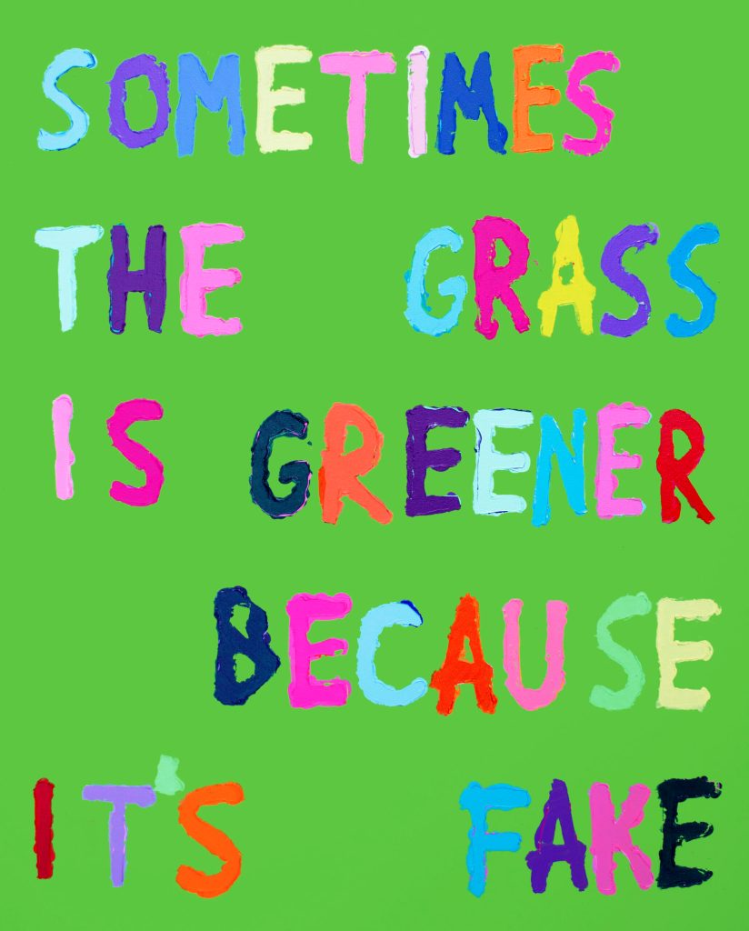 Pietro Terzini - Sometimes The Grass Is Greener Because It's Fake
