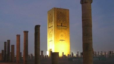 "Photo of بالفيديو: صومعة حسان تضيئ بالأخضر احتفالا بقمة المناخ ""كوب22"""