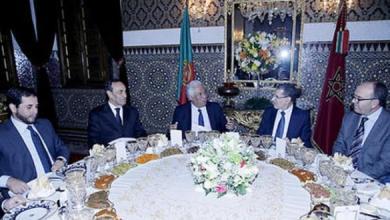 Photo of الملك محمد السادس يقيم مأدبة عشاء على شرف الوزير الأول البرتغالي