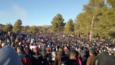 "Photo of فيديو: من ""أروع"" مشاهد سلمية احتجاجات جرادة"