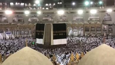 Photo of فيديو: رياح مكة المكرمة تكشف عن الكعبة المشرفة