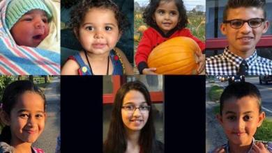 Photo of تشييع جثامين 7 أطفال سوريين قضوا في احتراق منزلهم بكندا