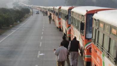 Photo of بالفيديو.. أكبر تجمع للحافلات في موكب ضخم