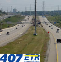 Highway 407 from the Bathurst Street overpass in Thornhill