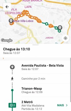 aplicativo de horário do ônibus trafi
