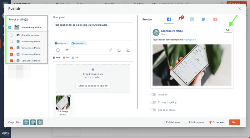 optimize social media posts for multiple client accounts