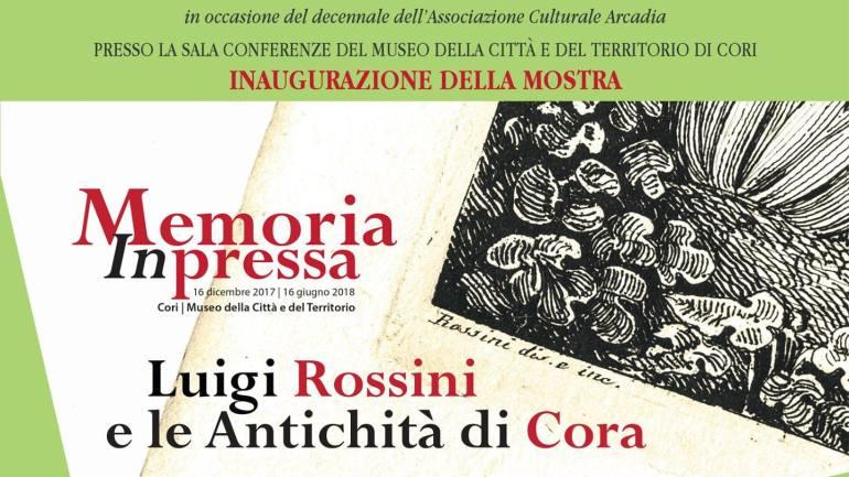 """""""Memoria Inpressa. Luigi Rossini e le Antichità di Cora"""": 8 preziose stampe ottocentesche al Museo della Città e del Territorio"""