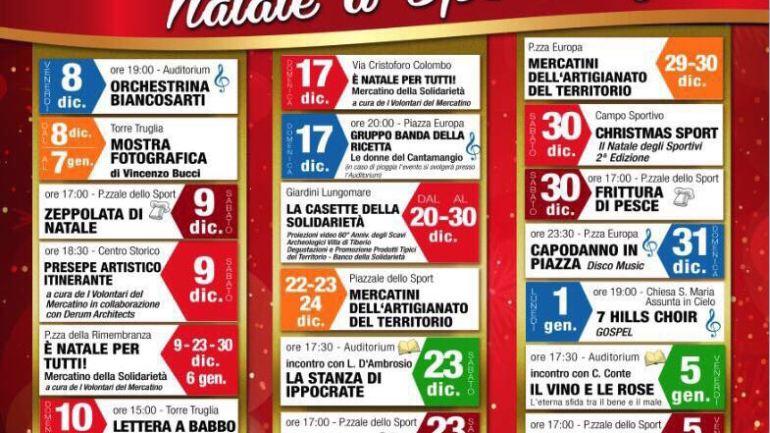 Sperlonga, il Natale dei cittadini ricco di eventi, con il contributo della Regione Lazio