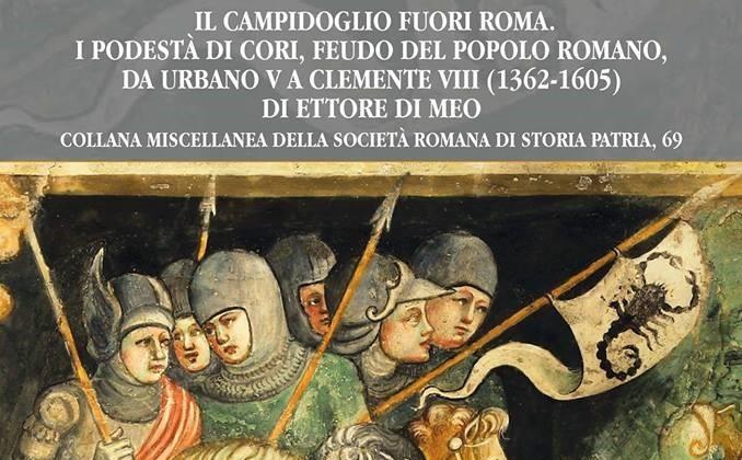 'Il Campidoglio fuori Roma', sabato a Cori la presentazione del libro di Ettore Di Meo