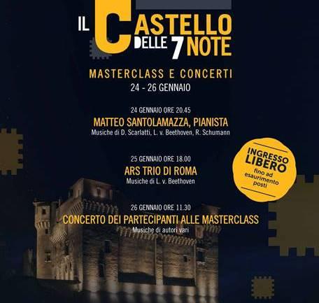 Santa Severa:fine settimana con il Castello delle 7 note