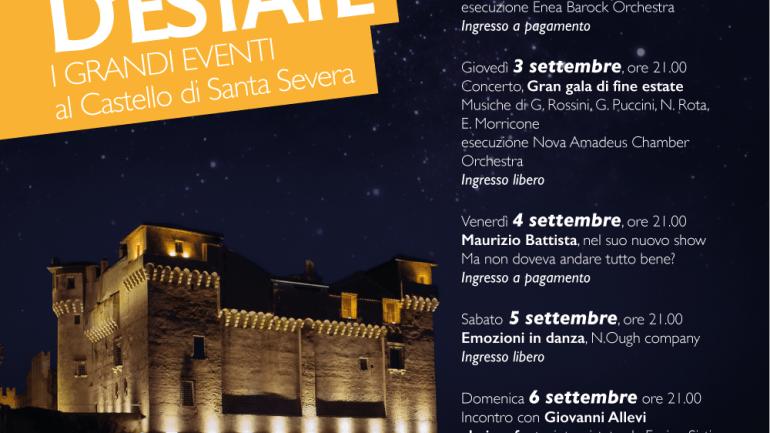 Santa Severa: prosegue al Castello fino al 6 settembre il Festival Sere d'estate della Regione Lazio