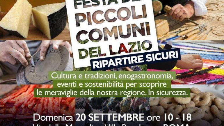 Regione Lazio. Domenica 20 settembre la Terza Festa dei Piccoli Comuni