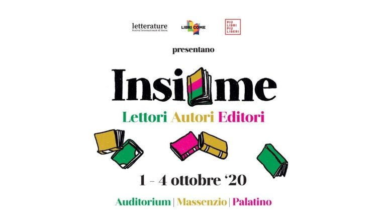 """Cultura: dal 1 al 4 ottobre """"Insieme"""" nuovo festival di editoria"""