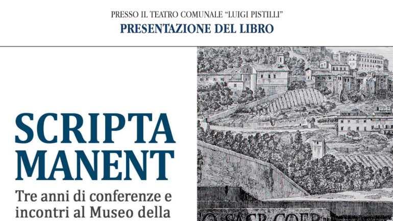 Cori: Scripta manent: sabato la presentazione del libro