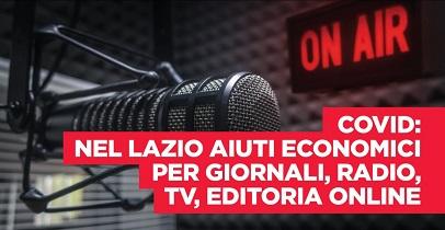 Regione Lazio: piano ristori per giornali, radio, tv