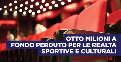 Regione Lazio. 8 milioni per realtà sportive e culturali