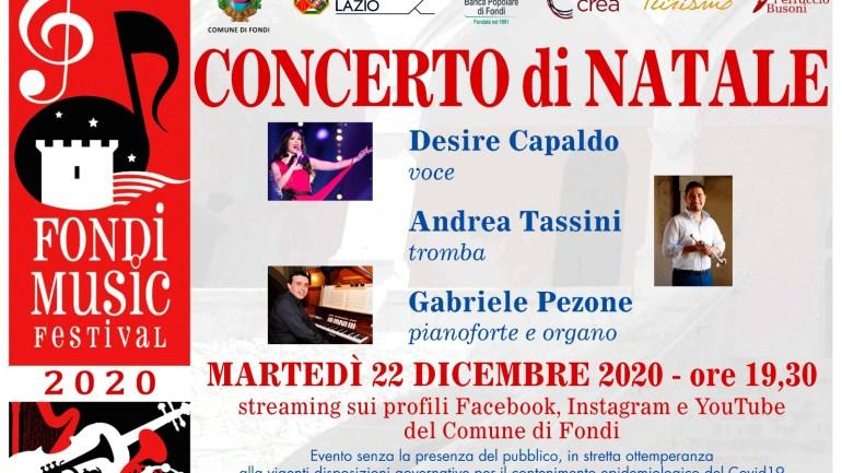 Fondi. Il Concerto di Natale è in streaming: Capaldo, Pezone e Tassini in diretta da Santa Maria