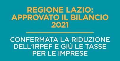 """Coronavirus: La Regione Lazio pubblica il documento sul """"Ristoro Lazio Irap"""""""