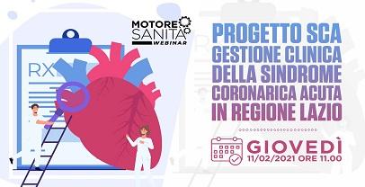 Sanità: Webinar gestione clinica della sindrome coronarica acuta in Regione Lazio