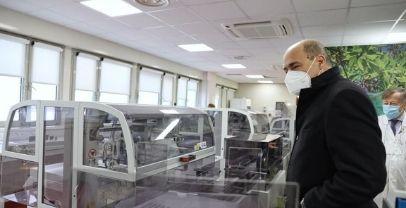 Zingaretti visita i laboratori dell'università di  Tor Vergata