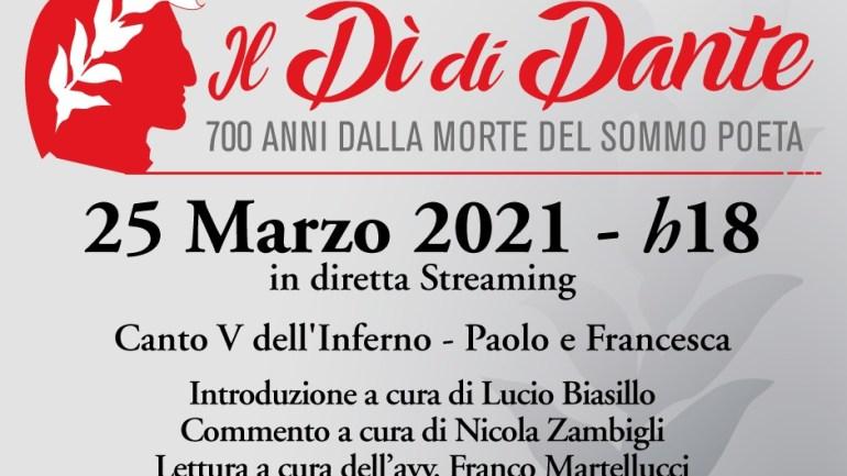 Anche il Comune di Fondi celebra (in streaming) il Dantedì