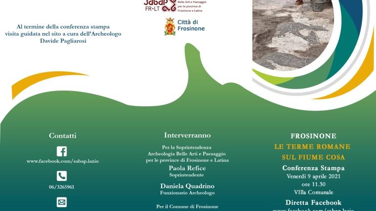 Presentazione delle nuove scoperte delle Terme romane sul fiume Cosa a Frosinone