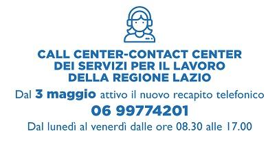 Nuovo numero telefonico del call center dei Servizi per l'Impiego della regione