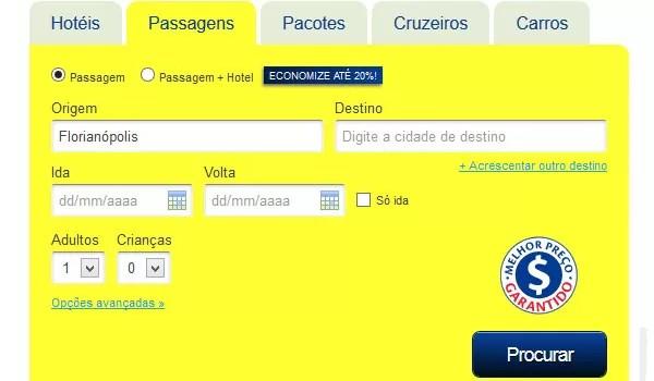 Buscador de Passagens Decolar.com