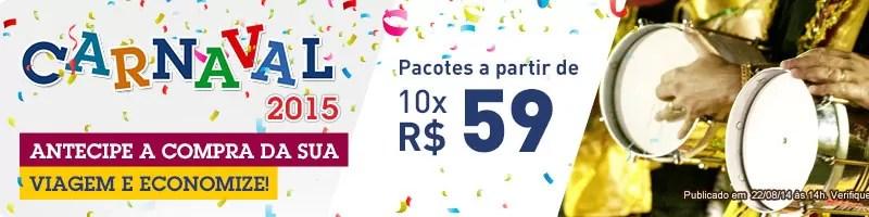 Pacotes para Carnaval 2015 - CVC Viagens