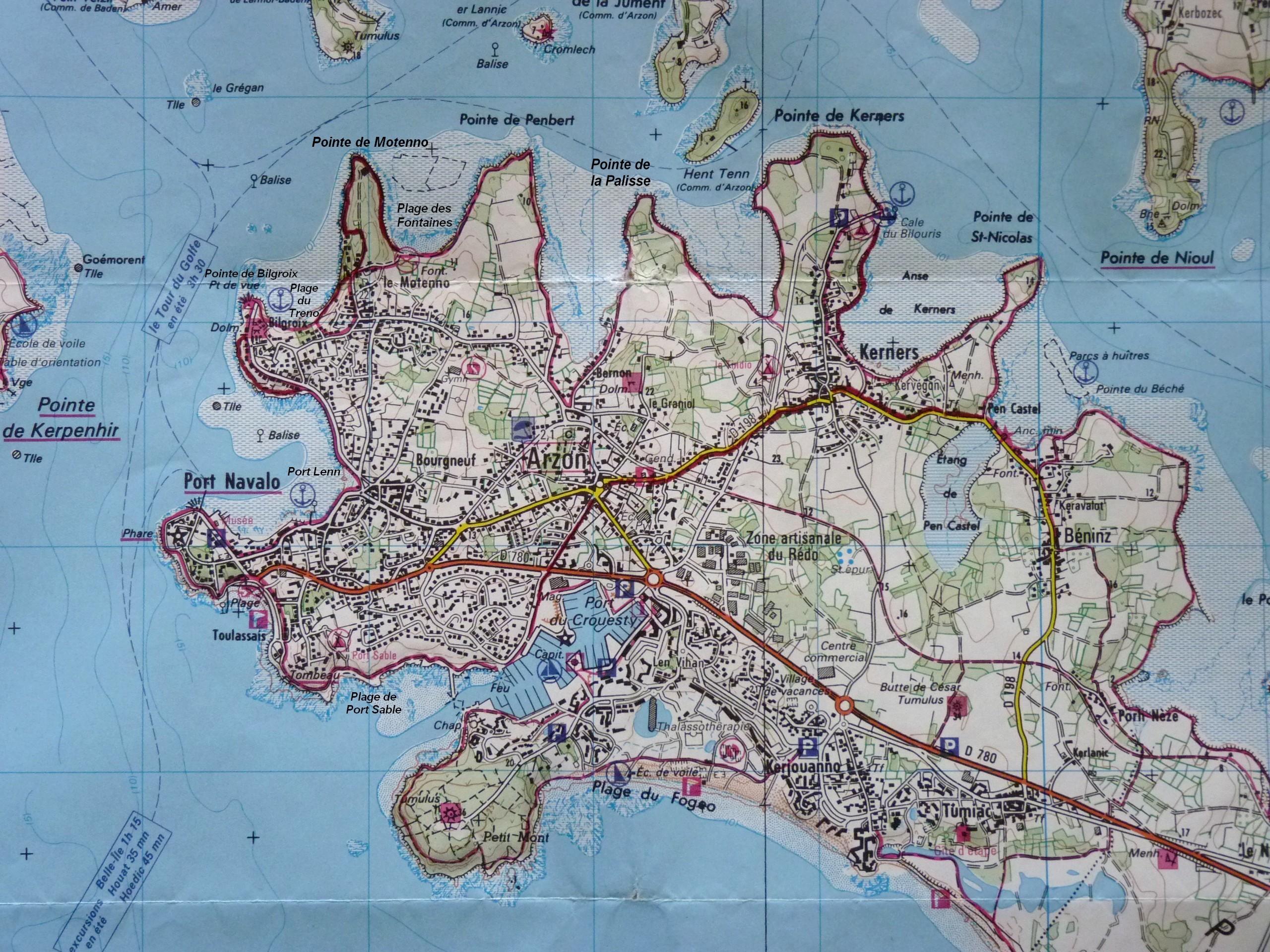 Balades En Bretagne Arzon Entre Ocan Et Petite Mer