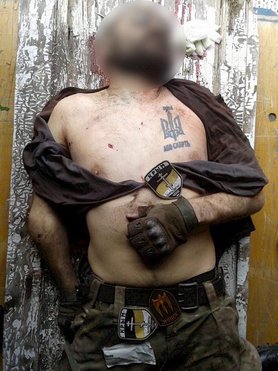 Soldat ukrainien mort