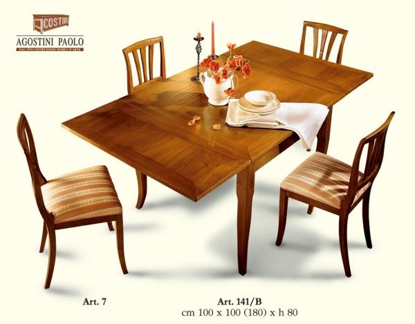 tavolo quadrato allungabile foscari