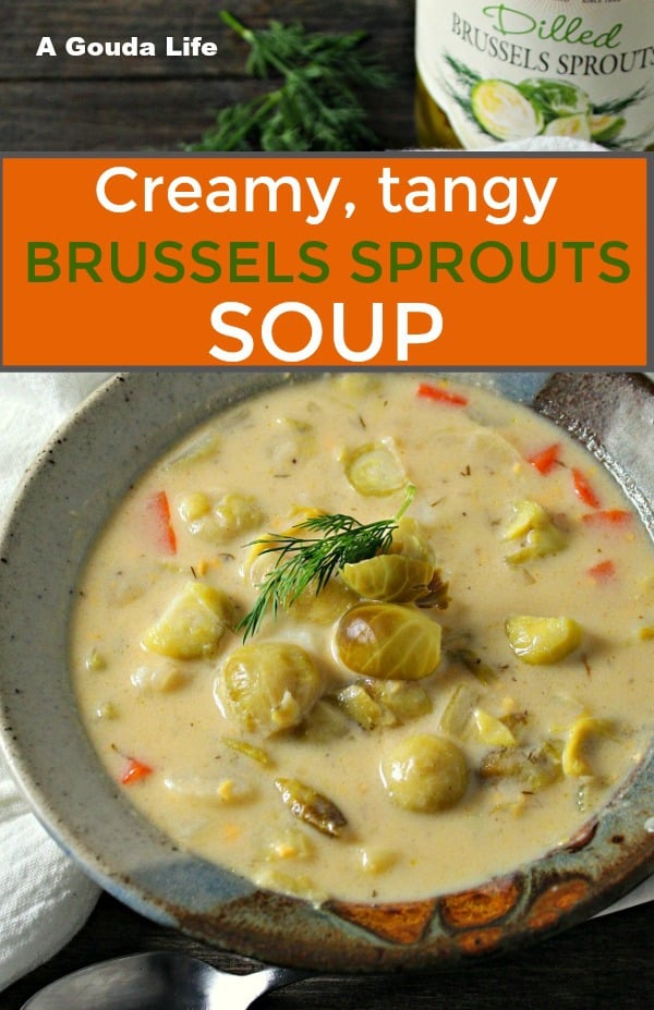 brussels sprouts soup recipe ~ pinterest pin