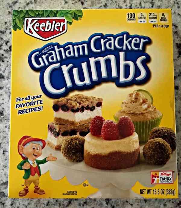 box of graham cracker crumbs