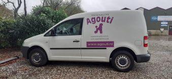 Bestelauto Agouti, nieuwe belettering