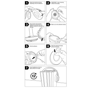 Replacement Ear Pads Cushion For Beats by Dr Dre Solo 2