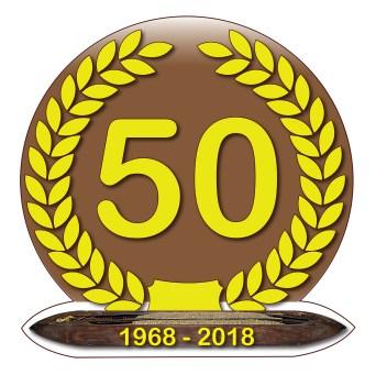 Adesivo tessitura Liletta per il cinquantesimo anniversario della detta