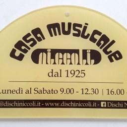 Targhetta casa musicale Niccoli