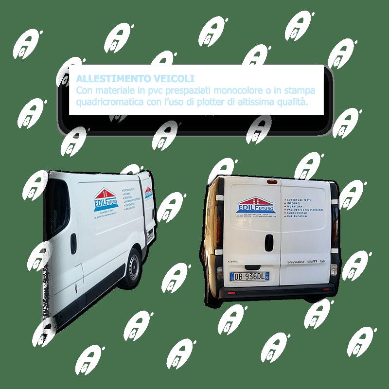 Allestimento veicoli in pvc prespaziati