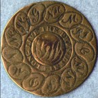 Medagliatta del 1789 di George Washington candidato alla Casa Bianca