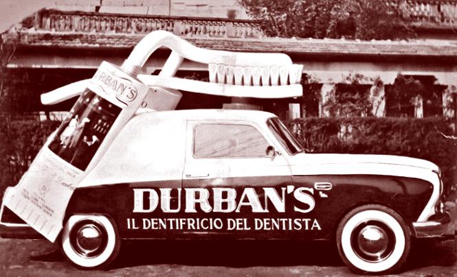 Storia dei Veicoli Pubblicitari - Veicolo pubblicitario per Durban's