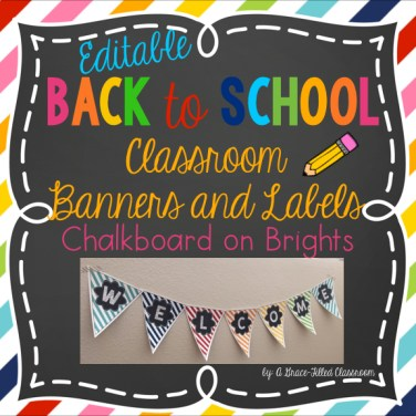 I love bright and cheery colors in the classroom. These classroom banners and labels will brighten up your room too!