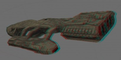 Another 3D view of the miniature Galactica