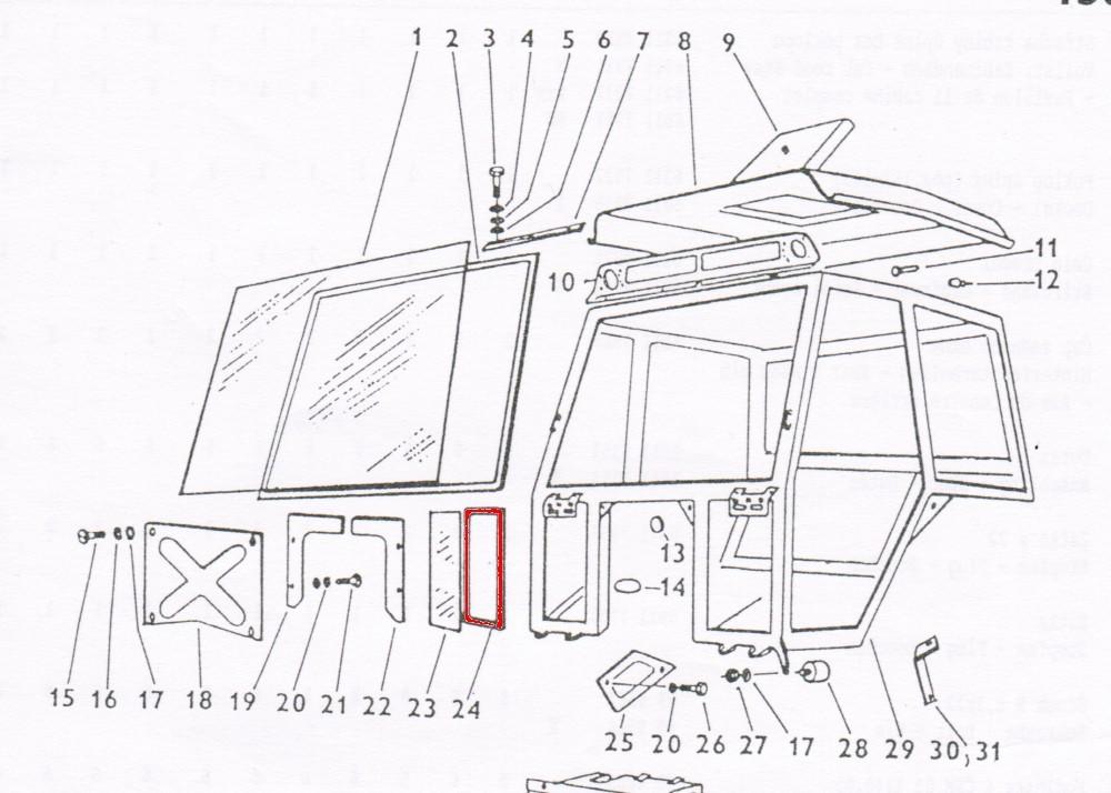 Zetor UR1 Scheibengummi 59117939 Ersatzteile » Agrapoint
